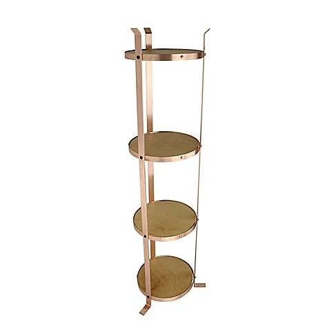 Enclume PS4RKDSCP 4-Tier Round Designer Stand Brushed Copper (Unassembled)