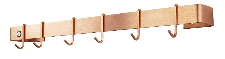 "Enclume WR1SCP 24"" Classic Wall Rack Utensil Bar w/ 6 Hooks Brushed Copper"