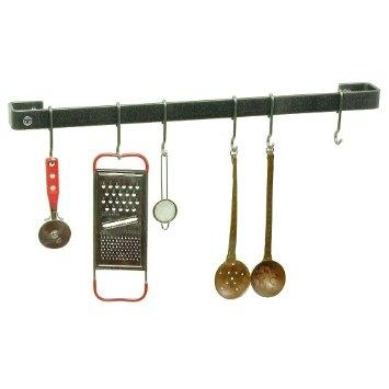 Enclume WR3-36-BP 36-Inch Utensil Bar Premier Wall Rack Brass