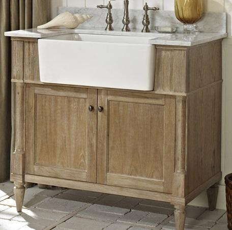 "Fairmont Designs 142-FV36 Rustic Chic 36"" Farmhouse Vanity - Weathered Oak"