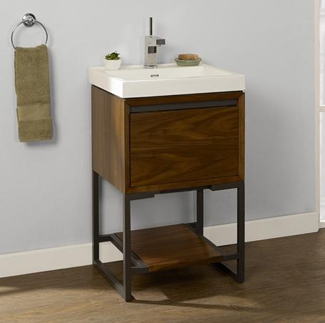 "Fairmont Designs 1505-VH2118 M4 21x18"" Open Shelf Vanity - Natural Walnut"