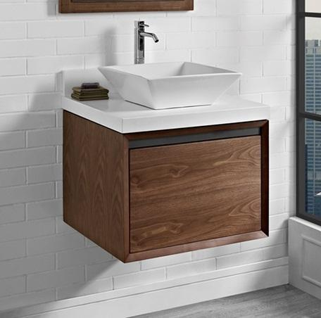 "Fairmont Designs 1505-WV24 M4 24"" Wall Mount Vanity Natural Walnut"