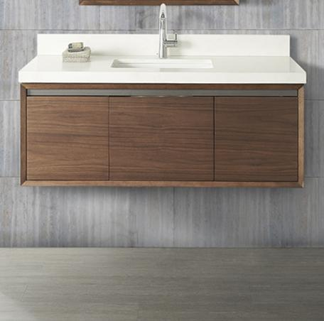 "Fairmont Designs 1505-WV48 M4 48"" Wall Mount Vanity - Natural Walnut"