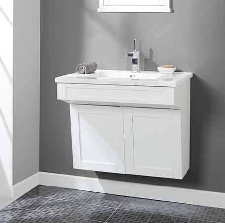 "Fairmont Designs 1512-WV3021 Shaker Americana 30"" Wall Mount Vanity - Polar White"