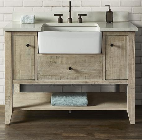 "Fairmont Designs 1515-FV48 River View 48"" Farmhouse Vanity - Toasted Almond"