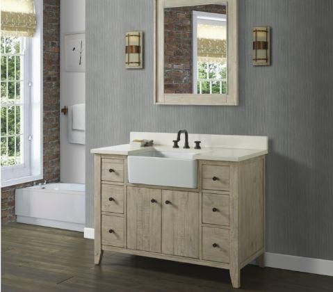 "Fairmont Designs 1515-FV48A River View 48"" Farmhouse Vanity - Toasted Almond"