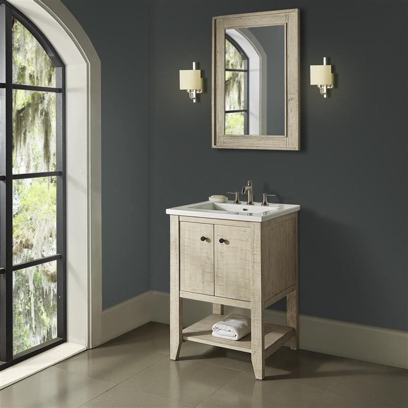 "Fairmont Designs 1515-VH24 River View 24"" Open Shelf Vanity - Toasted Almond"