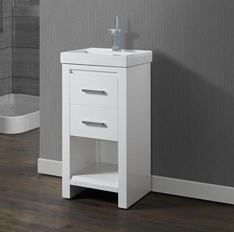 "Fairmont Designs 1517-V1816 Studio One 18x16"" Vanity - Glossy White"