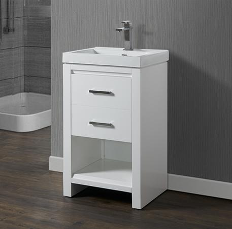 "Fairmont Designs 1517-V2118 Studio One 21x18"" Vanity - Glossy White"