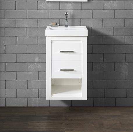 "Fairmont Designs 1517-WV1816 Studio One 18x16"" Wall Mount Vanity - Glossy White"