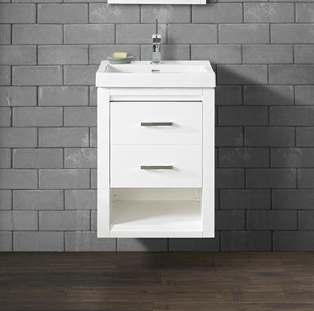 "Fairmont Designs 1517-WV2118 Studio One 21x18"" Wall Mount Vanity - Glossy White"