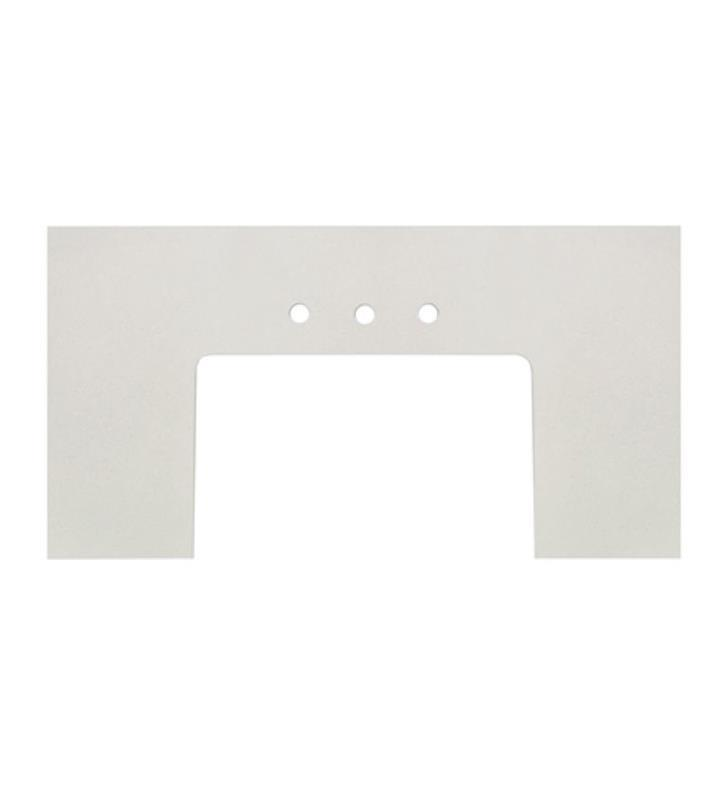 "Fairmont Designs TQ3-FV3823BZ8 3cm (1-1/4"") 37.5x23"" Blizzard (BZ) Quartz Farmhouse Top - 8"" widespread"