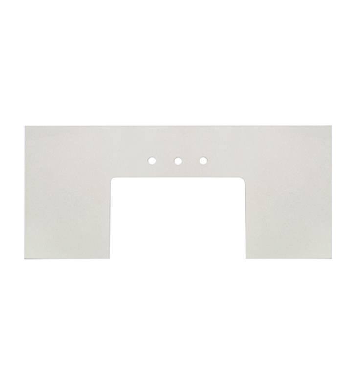 "Fairmont Designs TQ3-FV5023BZ8 3cm (1-1/4"") 49.5x23"" Blizzard (BZ) Quartz Farmhouse Top - 8"" widespread"
