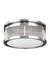 Feiss FM512CH Paulson 3 - Light Flushmount Chrome