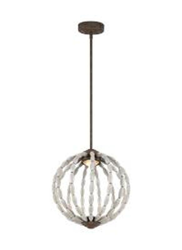 Feiss P1431DWG-WI-L1 Orren Light Pendant Driftwood Grey / Weathered Iron