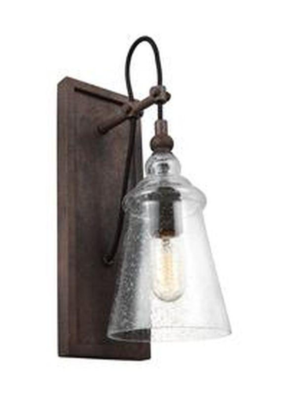 Feiss WB1850DWI Loras Light Wall Sconce Dark Weathered Iron