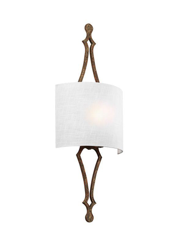 Feiss WB1859DSGL Tilling 1 - Light Wall Sconce Distressed Goldleaf