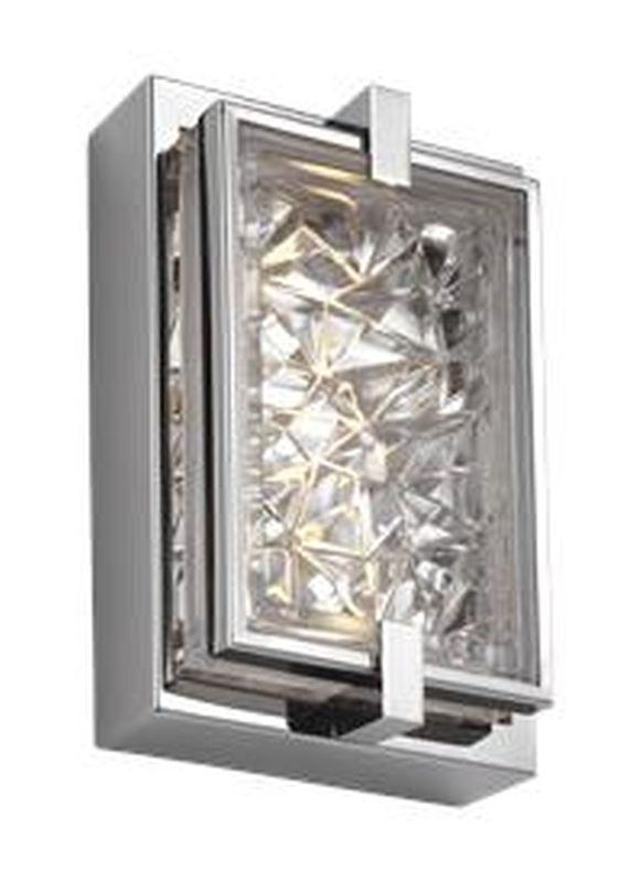 Feiss WB1865PST-L1 Erin Light Wall Sconce Polished Stainless Steel