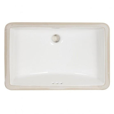 "Foremost 14-1812-W Undermount Sink, 18""X12"" White"