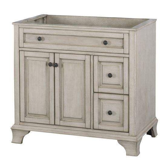 "Foremost CNAGV3622D Corsicana 36"" Vanity Antique Grey"