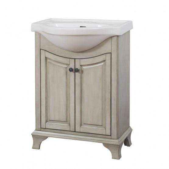 Foremost CNAGVT2536 Corsicana euro vanity with sink, Antique grey