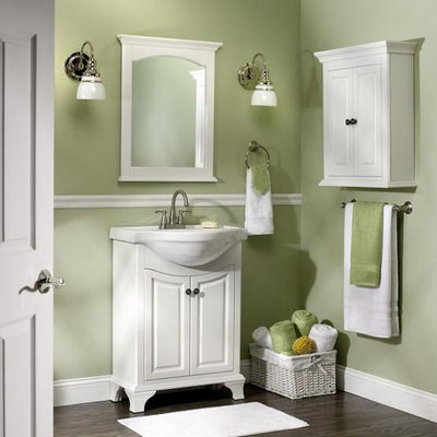 "Foremost CNAWVT2536 Corsicana 25"" Vanity with Sink , Antique White"