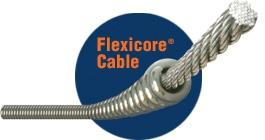 "General Wire 25EM3 1/2"" x 25' Electric Floor Model Replacement Cable with Male & Female Connectors"