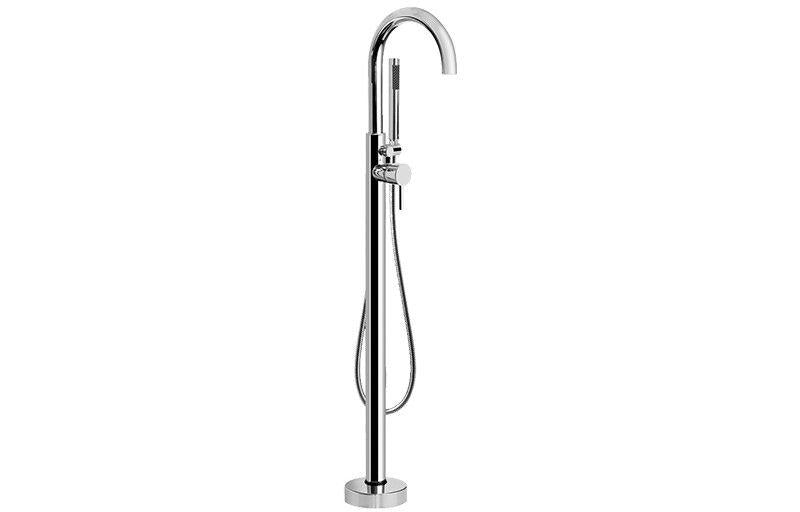 Graff M.E. G-1752-LM3F-SN M.E./M.E. 25 Floor-Mounted Exposed Tub Filler Steelnox (Satin Nickel)
