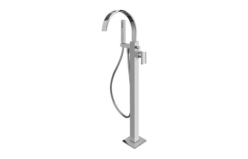 Graff Sade G-1854-LM36N-SN-T Sade Floor-Mounted Tub Filler - Trim Only Steelnox (Satin Nickel)