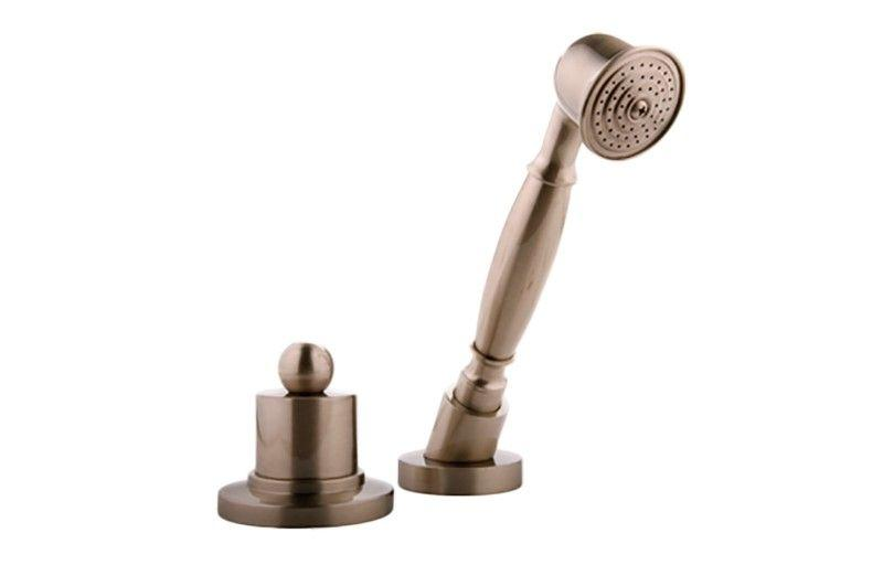 Graff Bali G-2155-SN Bali Deck-Mounted Handshower & Diverter Set Steelnox (Satin Nickel)