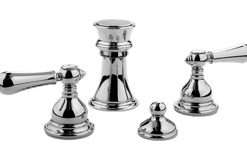 Graff Canterbury G-2560-LM34-PC Canterbury/Nantucket Bidet Set Polished Chrome