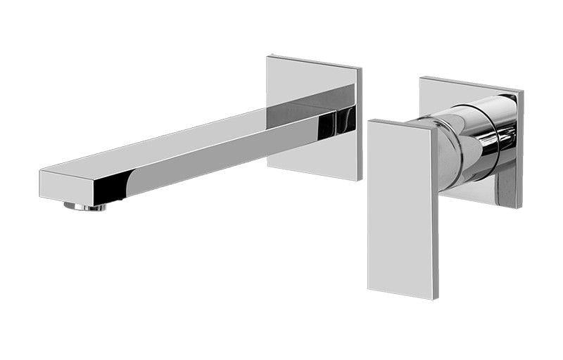 Graff Solar G-3736-LM31W-SN-T Solar Wall-Mounted Lavatory Faucet w/Single Handle - Trim Only Steelnox (Satin Nickel)