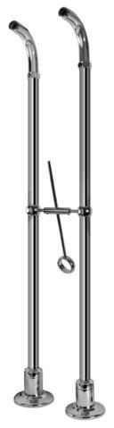 Graff Canterbury G-3894-SN Canterbury Floor-Mounted Pillar Unions Steelnox (Satin Nickel)