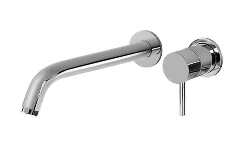 Graff M.E. G-6136-LM41W-SN-T M.E. Wall-Mounted Lavatory Faucet w/ Single Handle - Trim Only Steelnox (Satin Nickel)