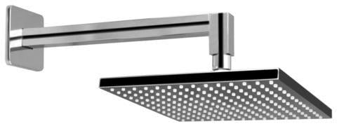 Graff Qubic G-8355-PN Contemporary Showerhead with Arm Polished Nickel