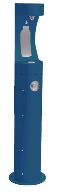 HALSEY TAYLOR 4400BFBLU PEDESTAL BOTTLE FILLER, BLUE