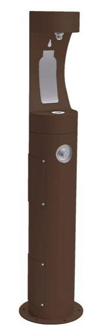 HALSEY TAYLOR 4400BFFRKBRN PEDESTAL BOTTLE FILLER, FR, BROWN