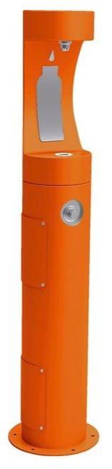 HALSEY TAYLOR 4400BFFRKORN PEDESTAL BOTTLE FILLER, FR, ORANGE