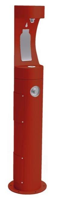 HALSEY TAYLOR 4400BFFRKRED PEDESTAL BOTTLE FILLER, FR, RED