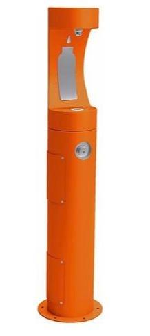 HALSEY TAYLOR 4400BFORN PEDESTAL BOTTLE FILLER, ORANGE