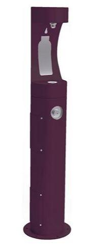 HALSEY TAYLOR 4400BFPUR PEDESTAL BOTTLE FILLER, PURPLE