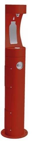 HALSEY TAYLOR 4400BFRED PEDESTAL BOTTLE FILLER, RED