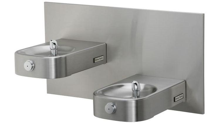 HALSEY TAYLOR 7439005783 Contour Heavy-Duty Bi-Level Fountain, Non-Filtered Non-Refrigerated Stainless