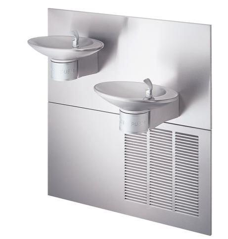 HALSEY TAYLOR 8634084883GRNWF Halsey Taylor OVL-II Bi-Level GreenSpec Fountain, Filtered 8 GPH Stainless