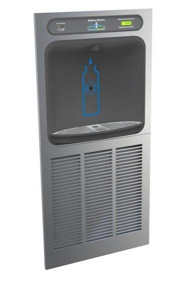 HALSEY TAYLOR HTHBGRN8-WF Halsey Taylor HydroBoost In-Wall Bottle Filling Station, High Efficiency Filtered 8 GPH Stainless
