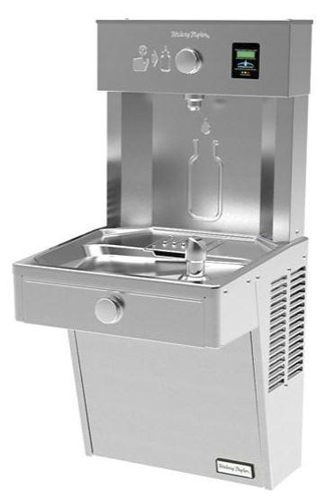 HALSEY TAYLOR HTHBHVR8Halsey Taylor HydroBoost Vandal-Resistant Bottle Filling Station & Single ADA Cooler Filtered 8 GPH Stainless