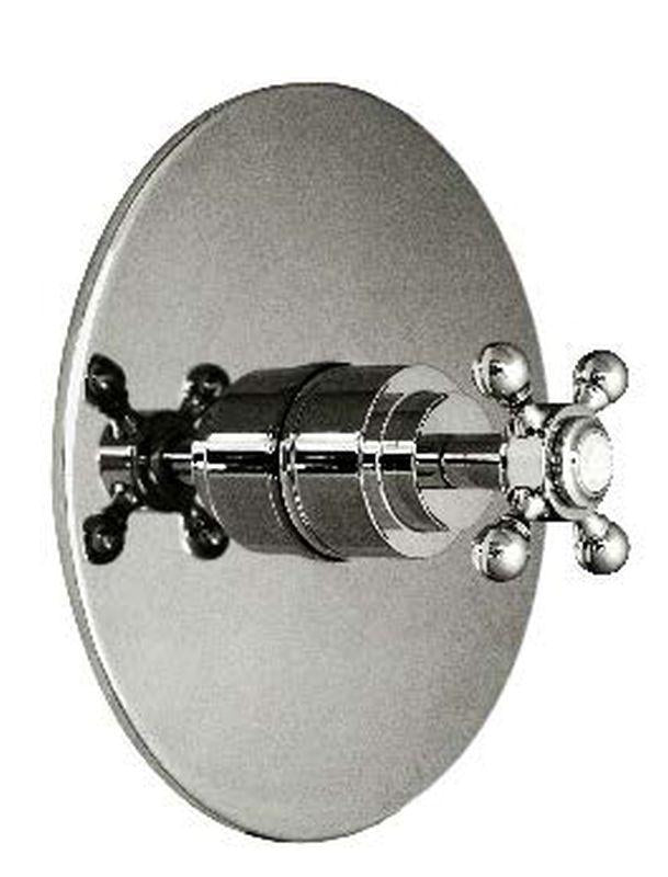Harrington Brass 35-388N4T-20-014 Monterey Thermostatic Trim w/ Solid Brass Round Plate And Single Handle, Polished Nickel