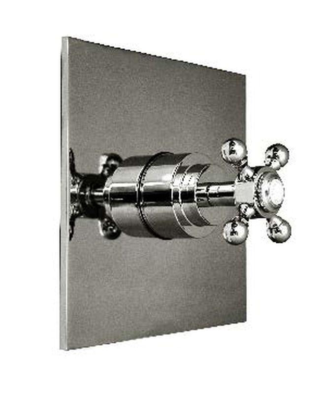 Harrington Brass 35-388N5T-20-014 Monterey Thermostatic Trim w/ Solid Brass Square Plate And Single Handle, Polished Nickel