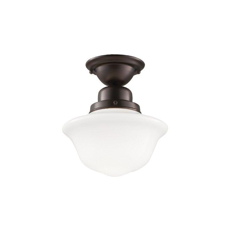 Hudson Valley 1609F-OB EDISON COLLECTION 1 LIGHT SEMI FLUSH Old Bronze