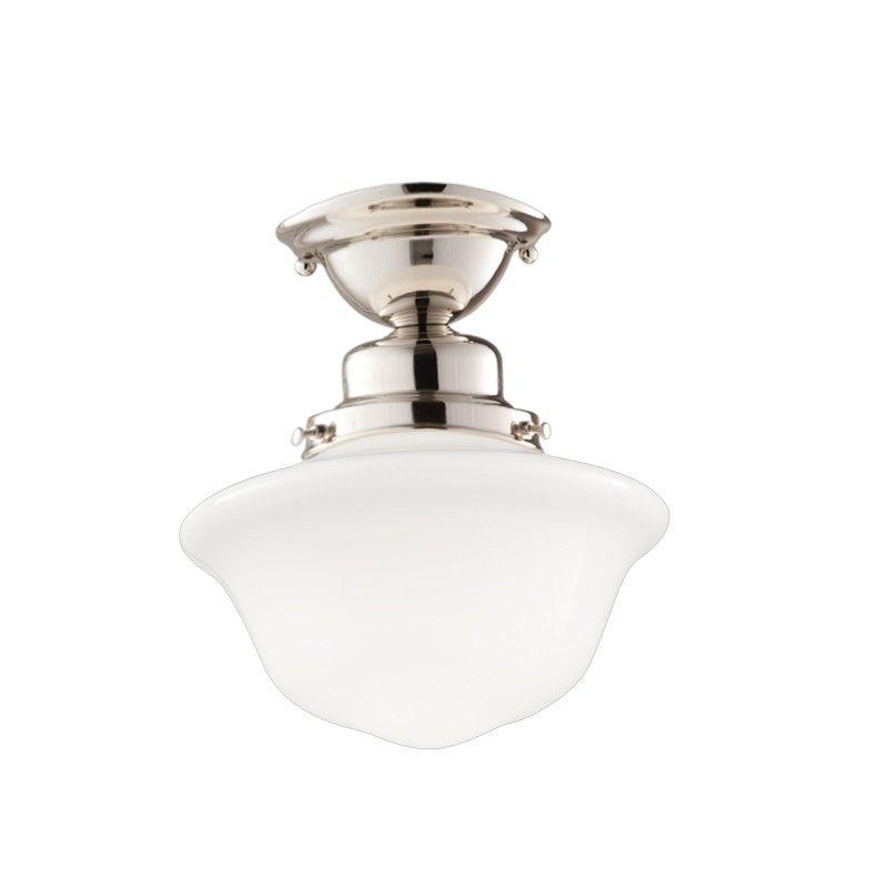 Hudson Valley 1609F-PN EDISON COLLECTION 1 LIGHT SEMI FLUSH Polished Nickel